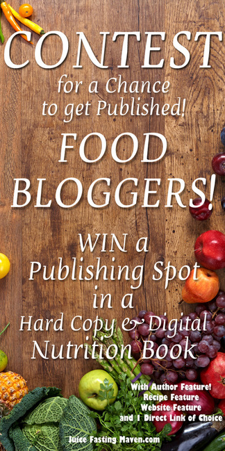 Hi Blogger, Have you ever dreamed of being featured in a Nutrition Book? You have the chance to get your recipe published in a hard-copy and digital Nutrition Book! Are you excited? I'm so giddy. My
